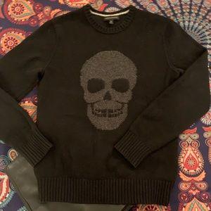 Banana Republic merino wool blend skull sweater